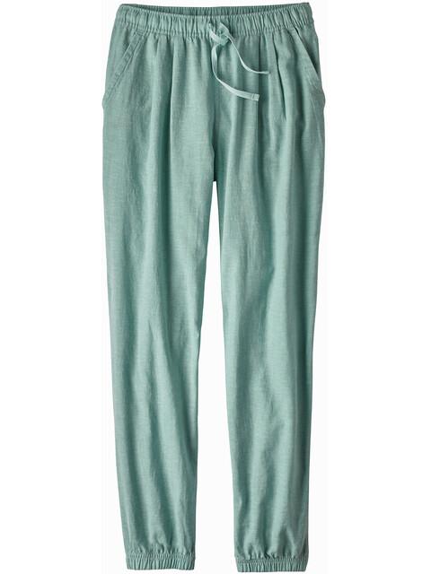 Patagonia W's Island Hemp Beach Pants Cross Weave/Atoll Blue